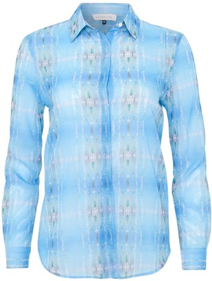 Silver Pink Water Poles Print Shirt