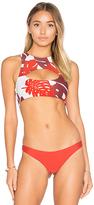 Mikoh Marrakesh Cutout Bikini Top in Red. - size XS (also in )