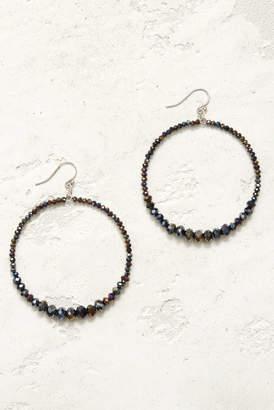 Chan Luu Oil Spill Open Circle Multi Beaded Drop Earrings Multi 1 Size