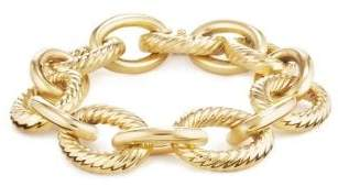 David Yurman Extra-Large Oval Link Bracelet In 18K Gold
