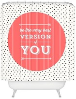 DENY Designs Be The Best Version Of You Shower Curtain Blushing