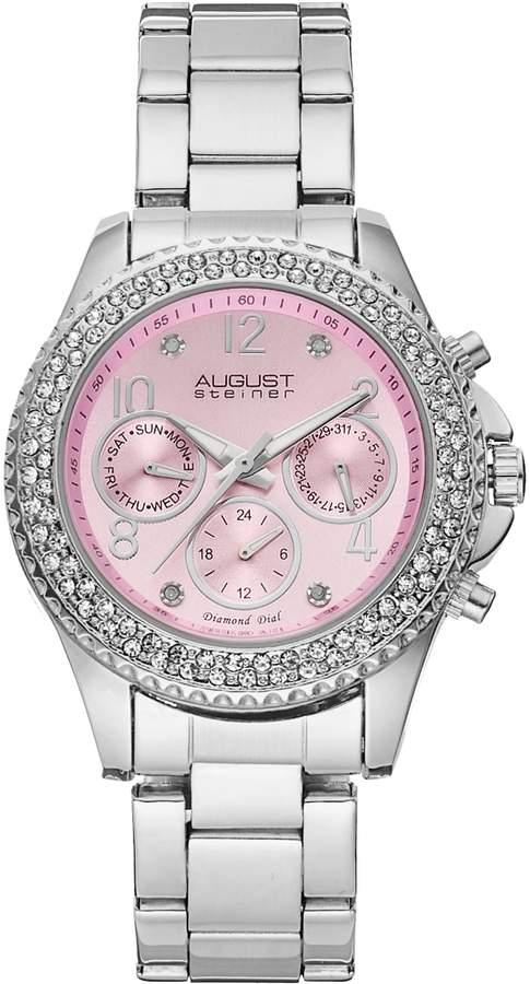 August Steiner Women's Diamond & Crystal Swiss Watch