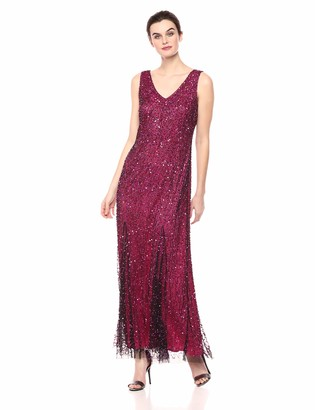 Pisarro Nights Women's Long Dress with Vermicelli Style Beading