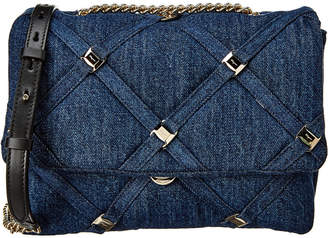 Salvatore Ferragamo Vara Chain Flap Denim Shoulder Bag