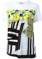 MSGM multi-textile T-shirt - women - Cotton - S
