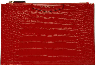 Givenchy Red Medium Antigona Pouch