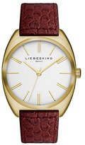 Liebeskind Berlin Unisex Quartz Watch with Silver Dial Analogue Display and Leather Red - LT-0012-LQ