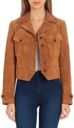 AVEC LES FILLES Short Genuine Suede Jacket
