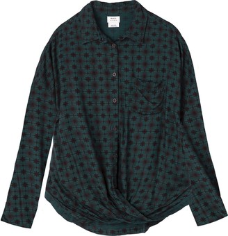 RVCA Women's Captain Long Sleeve Woven Shirt