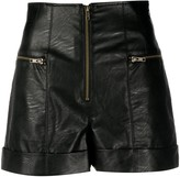 Twin-Set Twin Set faux leather shorts
