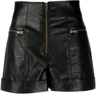 Twin-Set Faux Leather Shorts