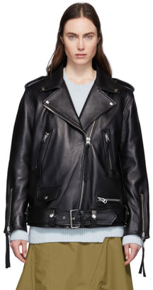 Acne Studios Black Leather Biker Jacket