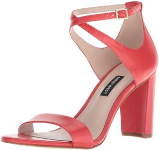 Nine West Women's NUNZAYA Leather Heeled Sandal