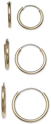 Giani Bernini 3-Pc. Set Small Endless Hoop Earrings in 18k Gold-Plated Sterling Silver