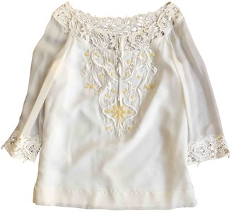Philosophy di Alberta Ferretti Ecru Silk Top for Women