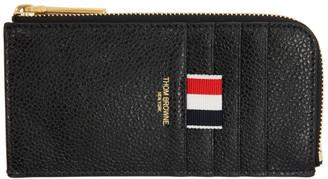 Thom Browne Black Half Zip Around Wallet
