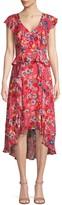 Parker Floral High-Low Peplum Dress