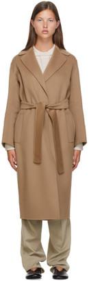 S Max Mara Beige Wool Lugano Coat