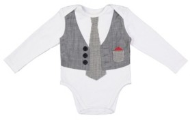 Beetle & Thread Beedle & Thread Baby Boy's Bodysuit with Accents