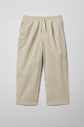 Weekday Tory Woven Joggers - Beige