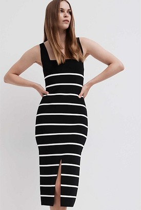 Witchery Stripe Knit Dress