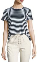 A.L.C. Tesi Striped Linen Tee, Black/White