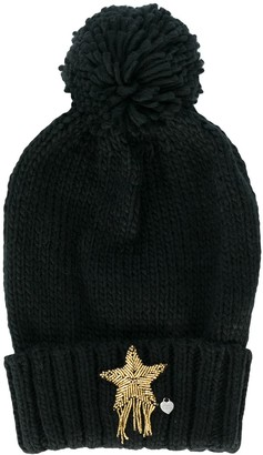 Twin-Set Beaded Star Beanie Hat