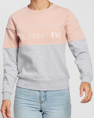 All About Eve Fronted Crew Sweater