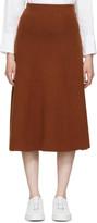 Joseph Orange Wool Skirt