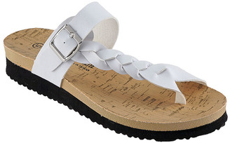 R&K Rk Collection RK Collection Women's Sandals WHITE - White Braided Remi Sandal - Women