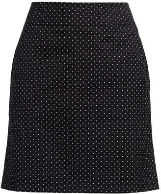 Akris Punto Micro Polka Dot A-Line Skirt