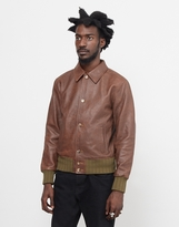 Levi's Strauss Leather Bomber Jacket Brown