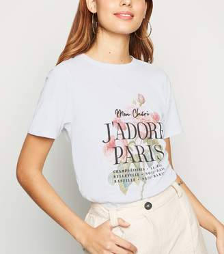 New Look J'Adore Paris Rose Slogan T-Shirt