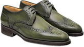 Pakerson Turtle Italian Handmade Calfskin Lace-Up Shoes