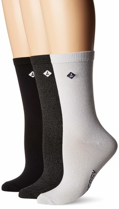 Sperry Women's 3 Pack Crew Socks