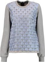 Markus Lupfer Sophia embellished silk-organza and cotton sweatshirt