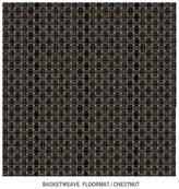 Chilewich Basketweave - Chestnut Floormat by 4' x 6'