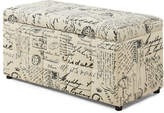 Monarch Leather-Look Hinged Storage Ottoman