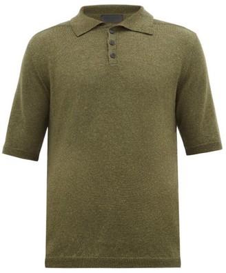 Iris von Arnim Josh Wool And Linen-blend Polo Shirt - Green