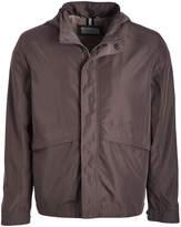 Cole Haan Men's Non-Denim Casual Jackets Titanium - Titanium Hooded Zip-Up Raincoat - Men