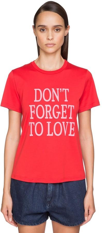 Alberta Ferretti 'don't Forget To Love' Cotton T-shirt