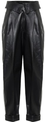 Proenza Schouler Cropped leather pants