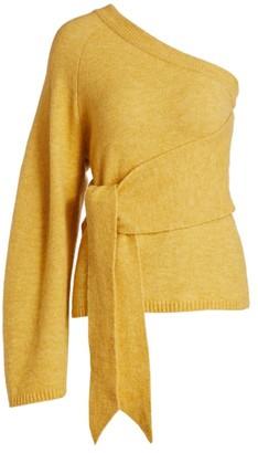 Nanushka Cleto One-Sleeve Asymmetrical Sweater