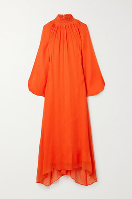 Mara Hoffman + Net Sustain Edmonia Asymmetric Cotton-blend Crepon Dress - Orange