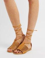 Charlotte Russe Qupid Lace-Up Huarache Sandals