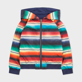 Paul Smith Boys' 7+ Years 'Artist Stripe' Print Reversible Hooded Jacket
