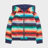 Paul Smith Boys' 7+ Years 'Blanket Stripe' Print Reversible Hooded Jacket