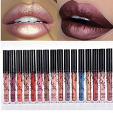Coosa 3pcs Madly MATTE Lipstick Lipgloss Bold Vivid Color Matte Lipgloss (16 colors for choose )