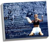 "Steiner Sports Brandi Chastain World Cup Game Winning Penalty Kick Facsimile 22"" x 26"" Framed Stretched Story Canvas"