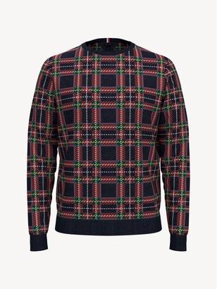 Tommy Hilfiger Essential Plaid Crewneck Sweater